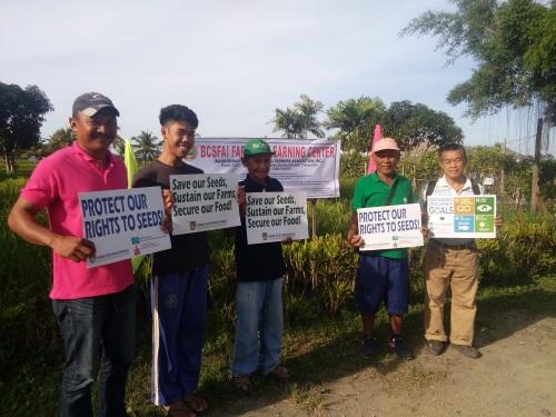 Philippinische Reisbauern streiken gegen die Machtkonzentration der KOnzerne und für ihr recht auf nahrung.