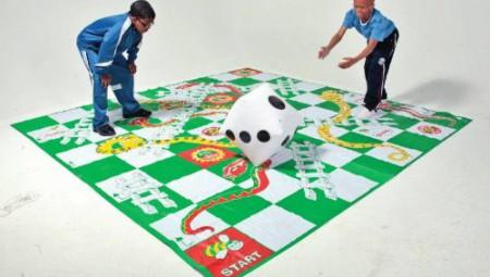 jeu géant echelle set de table